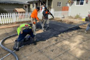 Long Beach Backyard and Driveway Renovation