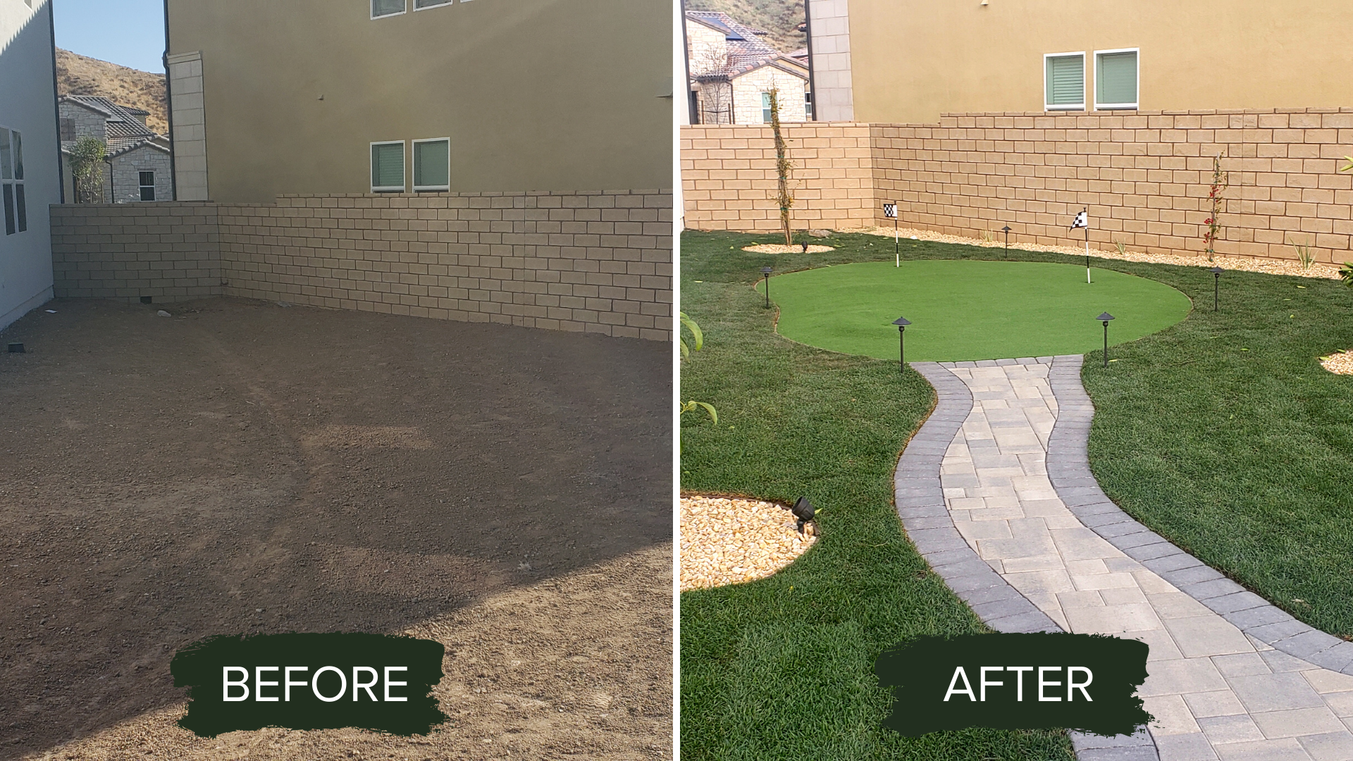 BEFORE AND AFTER BACKYARD RENOVATION