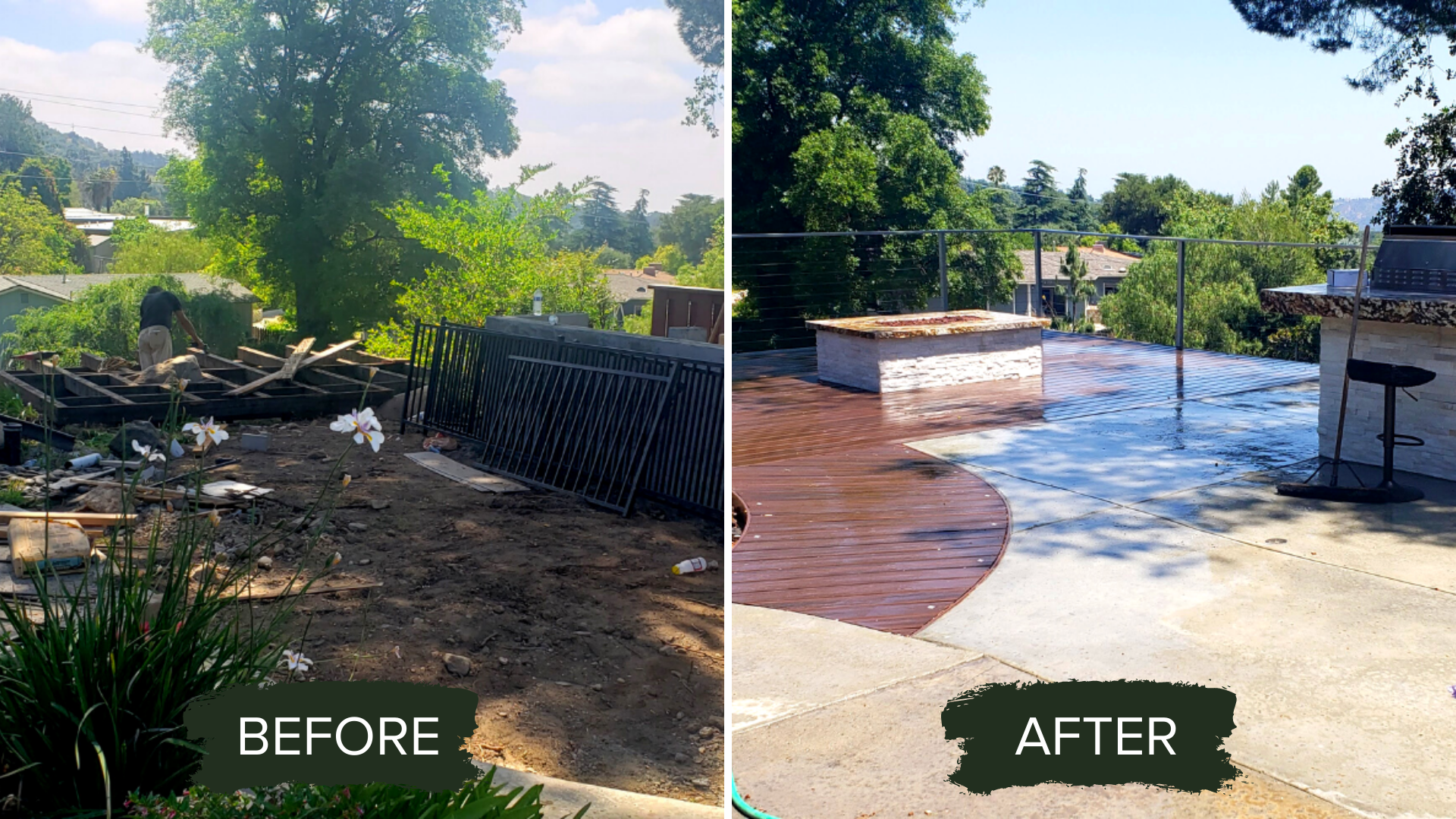 BEFORE AND AFTER DECK BUILDING