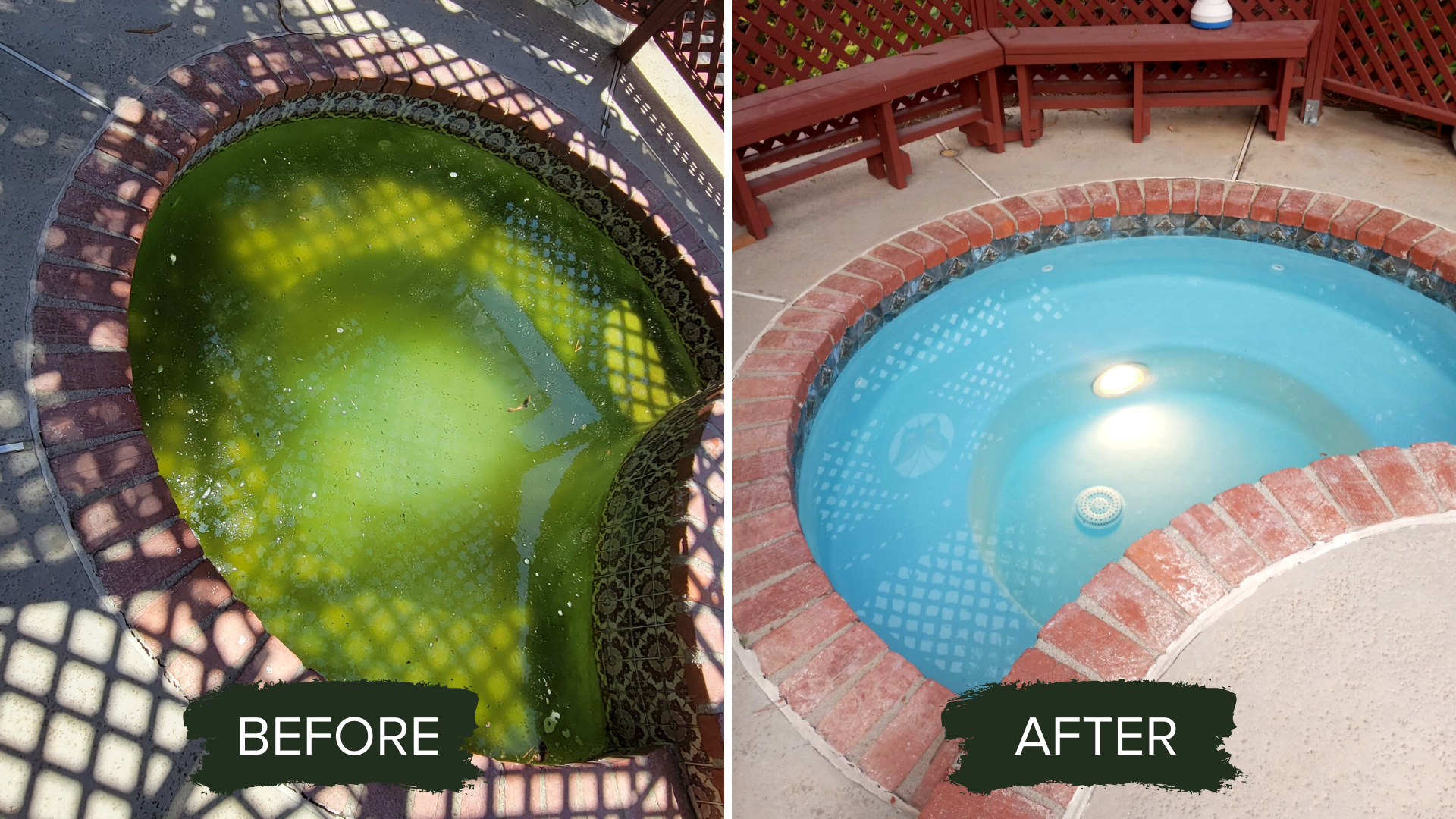 BEFORE AFTER POOL REMODEL