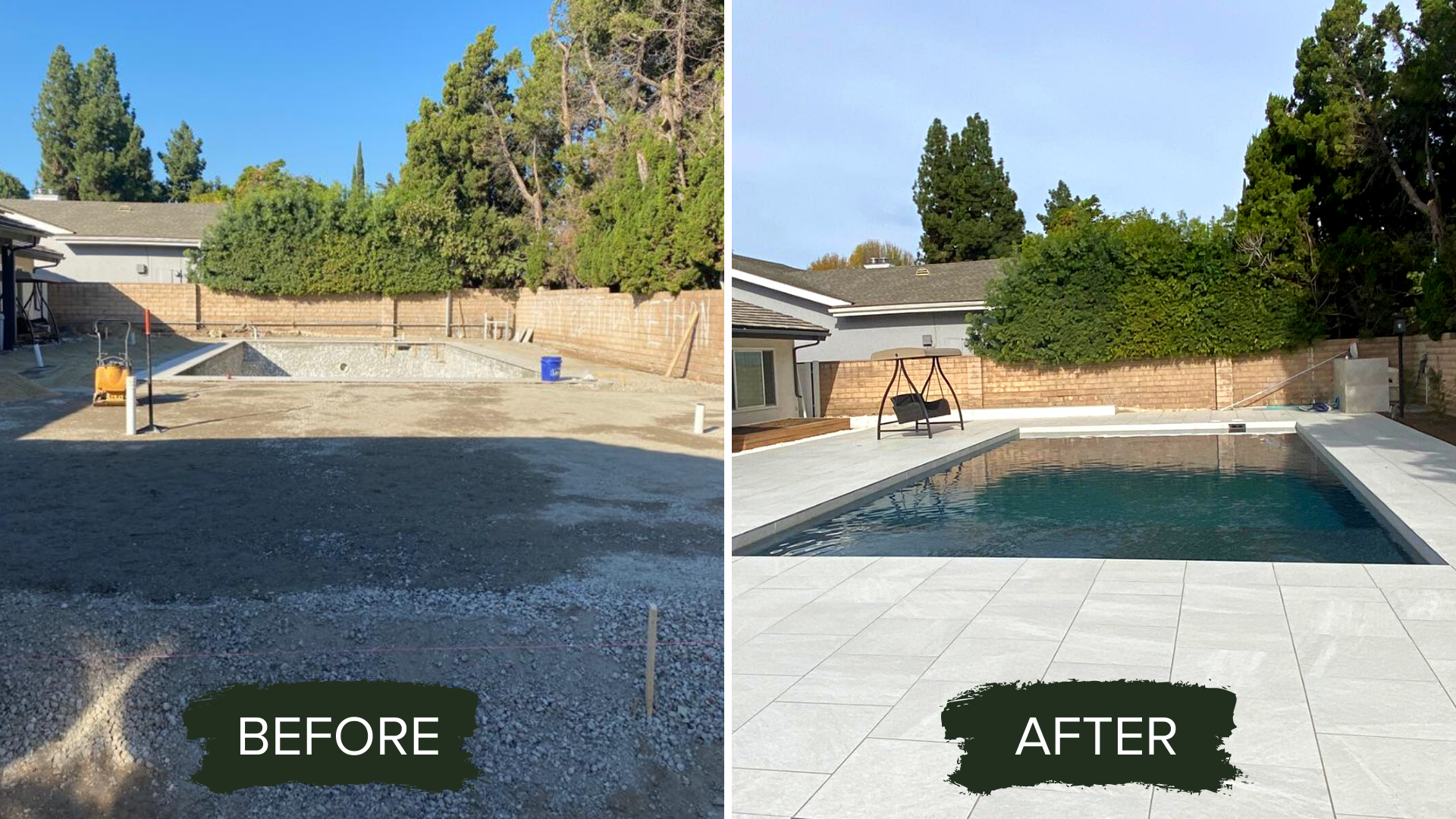 BEFORE AND AFTER POOL PAVERS