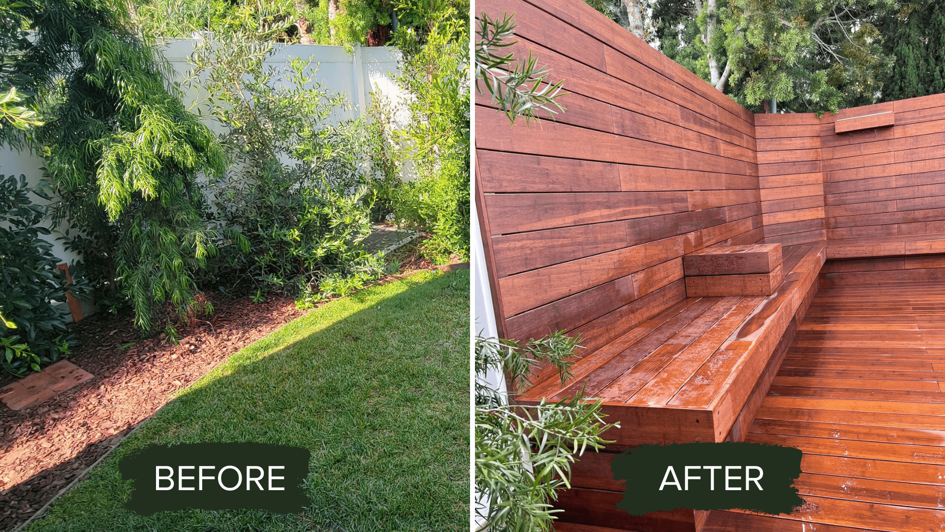 BEFORE AFTER DECK BUILDING